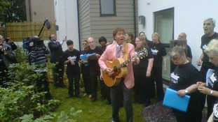 Cliff Richard performs
