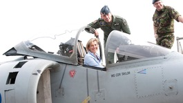 Sophie, Countess of Wessex, at RAF Wittering