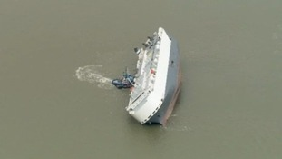 Stricken car carrier could be refloated