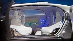 The seats in the F 015 can be swung around to face the centre while the car drives itself.