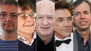 Stephane Charbonnier, Jean Cabut, Georges Wolinski, Bernard Velhac and Bernard Maris.