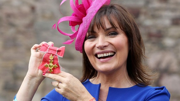 Lorraine Kelly with her OBE