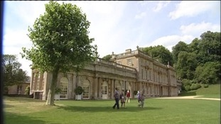 Work starts today to fix the roof at Dyrham Park near Bath