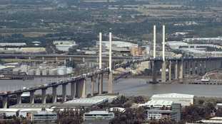 Two lanes of the Dartford Crossing are closed because of strong winds.
