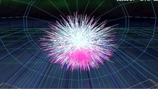 Graphic of the CERN experiment