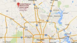 Map of Houston, Texas.