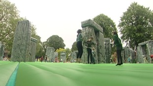 Sacrilege 2012,  replica of Stonehenge, was created by Turner Prize winning artist, Jeremy Deller.