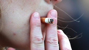 ile photo dated 21/02/14 of a woman smoking