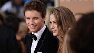 Eddie Redmayne and Hannah Bagshawe arriving at the 72nd annual Golden Globe Awards held at the Beverly Hilton in Beverly Hills, Los Angeles, CA, USA, January 11, 2015.