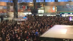 Crowds at Euston station