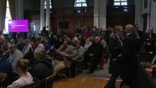 Audience at Q&A session