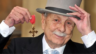 Brian Clemens with his OBE medal