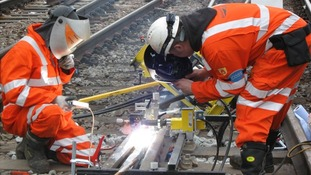 Technicians at work on the tracks during previous engineering project