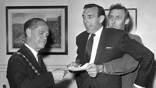 Sykes with Spike Milligan (far right) in 1963.
