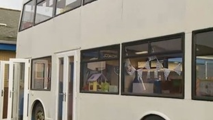 The school bought the bus on eBay and converted it to solve the lack of classroom space