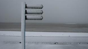 Snow at Llanelli