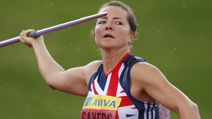 Britain's number one javelin thrower Goldie Sayers