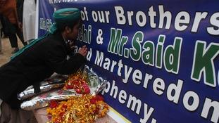 Ceremony in Pakistan honours Charlie Hebdo suspects