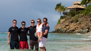 Ben Ainslie and new wife Georgie Thompson finish honeymoon on Necker Island after Richard Branson ship wreck rescue