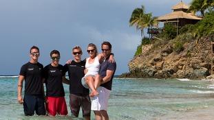 Ben Ainslie and new wife Georgie Thompson finish honeymoon on Necker Island after Richard Branson ship wreck rescue
