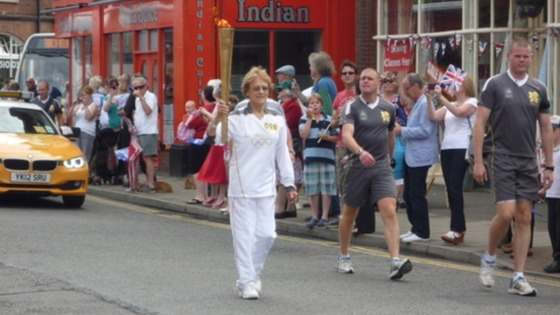 Jamie Edghill sent us this picture of the Olympic Torch in Cromer