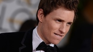 Eddie Redmayne at the Golden Globe awards where he won Best Actor.