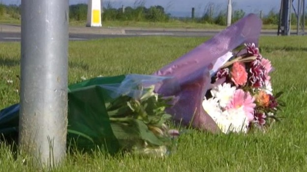 Flowers laid at RAF Lossiemouth