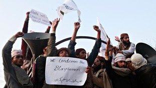 The protests in Karachi turned violent