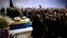 Hundreds of mourners attended the service
