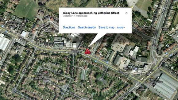 Google Map of the junction of Gipsy Lane and Catherine Street where the crash happened