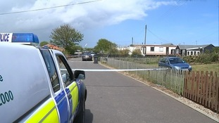 The scene of the stabbing in Hemsby, Norfolk.