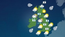 There will be highs of 5C in the south today.