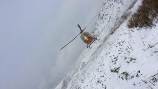 A thirty-year-old man was airlifted to hospital after a sledging accident.