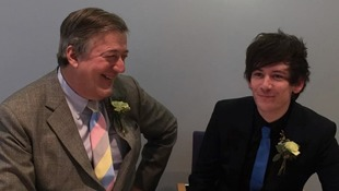Stephen Fry and Elliott Spencer wed in Norfolk