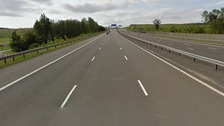 The Google Street View of the M6 Toll near where it was closed this morning