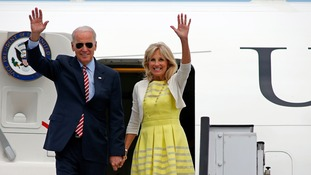 US Vice President Joe Biden and his wife, Dr Jill Biden, were away from their home in Greenville, Delaware, when the incident happened.