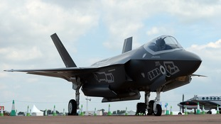 A Lockheed Martin F-35 at RAF Fairford in Gloucestershire