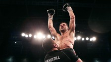 On top of the world - Carl Froch after his win at Wembley last May