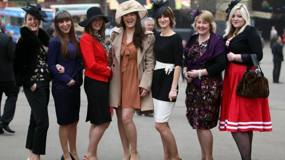 A ladies outing from Bristol during day two of the 2012 Cheltenham Festival