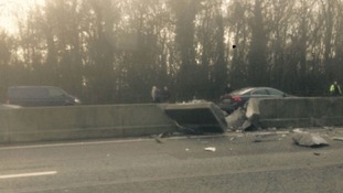 M25 crash 2