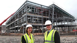 Middlesbrough College principal and CE Zoe Lewis with Ian Smith, STEM