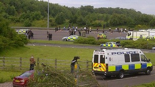 Heavy police presence on the M6 Toll