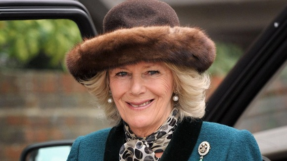 The Duchess of Cornwall arrives for day two of the 2012 Cheltenham Festival