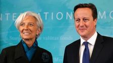 IMF managing director Christine Lagarde with Prime Minister David Cameron
