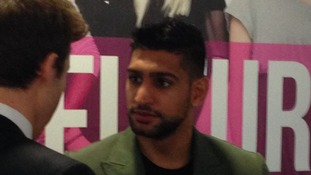 Amir Khan in Sunderland today