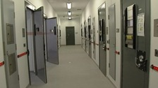 Cells at the custody centre in Bridgwater