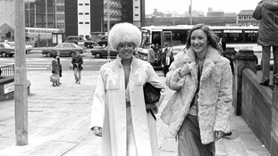 Coronation Street stars Julie Goodyear (left) and Anne Kirkbride pictured together in 1984.