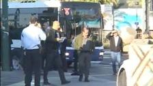 Police near the scene of the attack in Tel Aviv