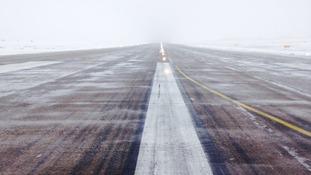 Leeds Bradford Airport runway