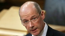 Mr Swinney announced the changes during a Budget Bill Debate